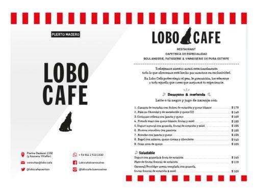 Lobo Café Menú